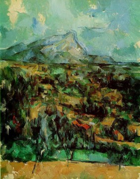 Mont Sainte Victoire 2 Paul Cezanne scenery Oil Paintings