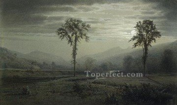 william - Moonlight On Mount Lafayette New hampshire scenery William Trost Richards