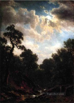 Moonlit Landscape Albert Bierstadt Oil Paintings