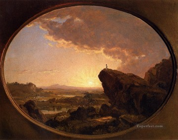 Plain Scenes Painting - Moses Viewing the Promised Land scenery Hudson River Frederic Edwin Church
