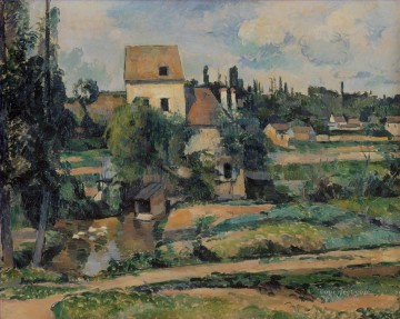 Moulin de la Couleuvre at Pontoise Paul Cezanne scenery Oil Paintings