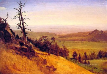 mountains Canvas - Nebraska Wasatch Mountains Albert Bierstadt