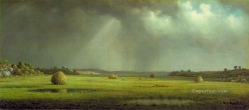 Meadow Art - Newburyport Meadows ATC Romantic Martin Johnson Heade scenery