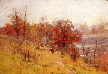 Novembers Harmony Impressionist Indiana landscapes Theodore Clement Steele Oil Paintings