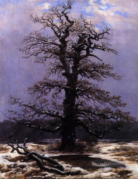 Oak In The Snow Romantic landscape Caspar David Friedrich Oil Paintings