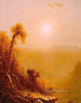 October in the Catskills scenery Sanford Robinson Gifford Oil Paintings