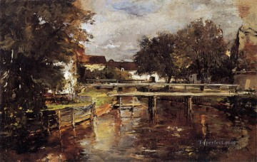Old Towl Brook Polling Bavaria scenery Frank Duveneck Oil Paintings