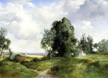 Old Windmill East Hampton Long Island New York landscape Thomas Moran Oil Paintings