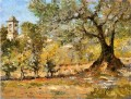 Olive Trees Florence impressionism William Merritt Chase scenery