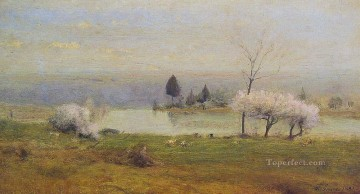 Pond at Milton on the Hudson landscape Tonalist George Inness Oil Paintings