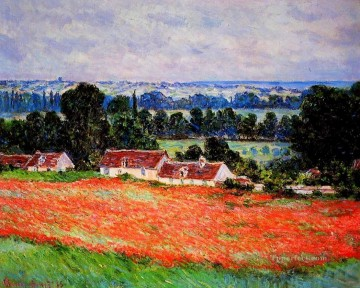 POP Oil Painting - Poppies at Giverny Claude Monet scenery