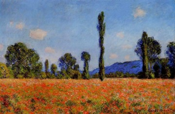 POP Oil Painting - Poppy Field Claude Monet scenery