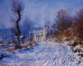 Road to Giverny in Winter Claude Monet scenery