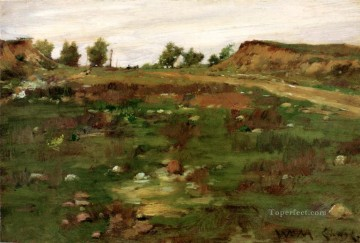 1895 Oil Painting - Shinnecock Hills 1895 impressionism William Merritt Chase scenery