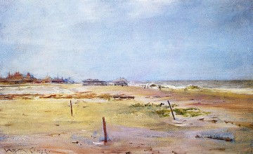 Shore Painting - Shore Scene impressionism William Merritt Chase