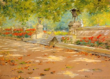 Terrace Prospect Park impressionism William Merritt Chase scenery Oil Paintings