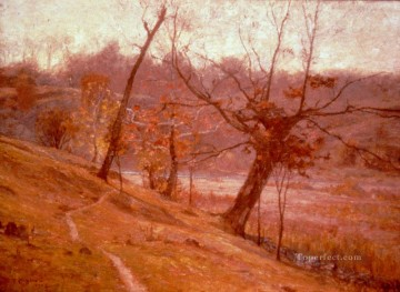 indiana - The Bloom Of Grape 1893 Impressionist Indiana landscapes Theodore Clement Steele