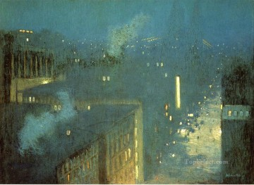 Queens Canvas - The Bridge Nocturne aka Nocturne Queensboro Bridge Julian Alden Weir scenery