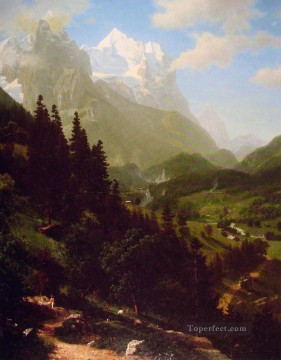 Plain Scenes Painting - The Matterhorn Albert Bierstadt