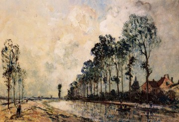 The Oorcq Canal Aisne impressionism Johan Barthold Jongkind scenery Oil Paintings