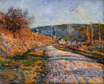 The Road to Vetheuil Claude Monet scenery Oil Paintings