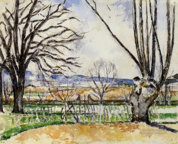 The Trees of Jas de Bouffan in Spring Paul Cezanne scenery Oil Paintings