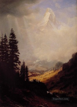 Plain Scenes Painting - The Wetterhorn Albert Bierstadt
