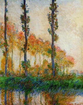 Plain Scenes Painting - Three Trees in Autumn Claude Monet scenery