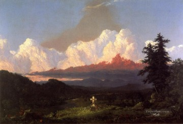 To the Memory of Cole scenery Hudson River Frederic Edwin Church Oil Paintings