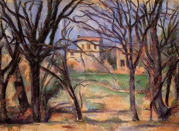 Trees and houses Paul Cezanne scenery Oil Paintings