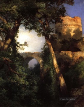 Plain Scenes Painting - Two Owls landscape Thomas Moran