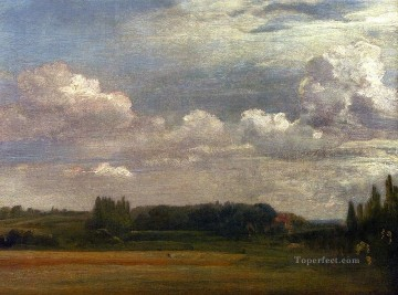 Stable Oil Painting - View Towards The Rectory From East Bergholt House Romantic landscape John Constable scenery