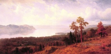on canvas - View of the Hudson Albert Bierstadt