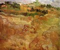 Wheat Fields with Auvers in the Background Vincent van Gogh scenery