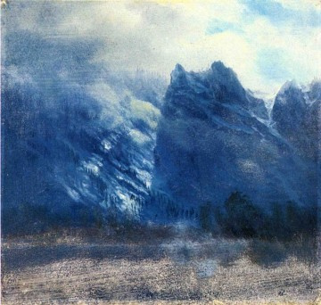 Yosemite Art - Yosemite Valley Twin Peaks Albert Bierstadt