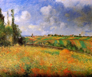 fields 1877 Camille Pissarro scenery Oil Paintings