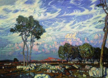 last rays 1903 Konstantin landscape Oil Paintings