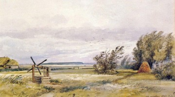 shmelevka windy day 1861 classical landscape Ivan Ivanovich plan scenes Oil Paintings