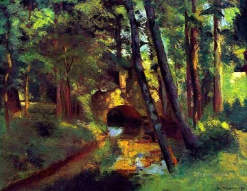 the little bridge pontoise 1875 1 Camille Pissarro scenery Oil Paintings