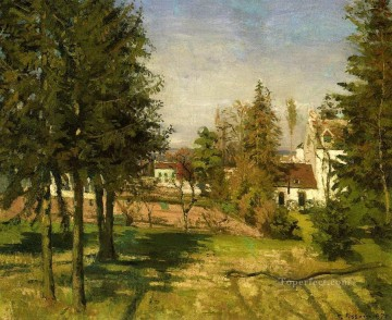 1870 Canvas - the pine trees of louveciennes 1870 Camille Pissarro scenery