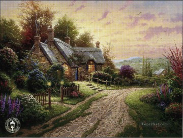 A Peaceful Time Thomas Kinkade scenery Oil Paintings