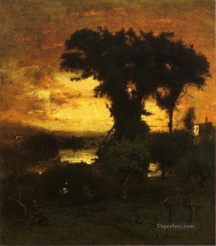 Afterglow landscape Tonalist George Inness Oil Paintings