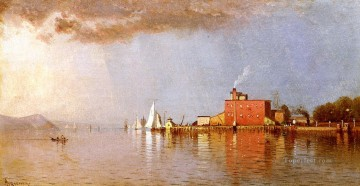Alfred Canvas - Along the Hudson modern beachside Alfred Thompson Bricher scenery