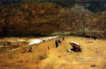 Shore Painting - Along the Jersey Shore landscape Tonalist George Inness