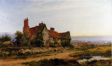 Leader Works - An Old Surrey Home landscape Benjamin Williams Leader