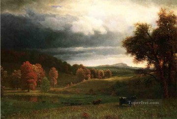 cat cats Painting - Autumn Landscape The Catskills Albert Bierstadt