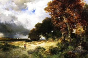 Autumn Peconic Bay Long Island landscape Thomas Moran Oil Paintings