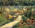 Bench in summer Eduard Manet scenery