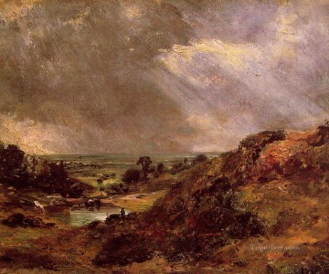 Branch Painting - Branch Hill Pond Hampstead Romantic landscape John Constable