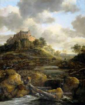 Plain Scenes Painting - Castle landscape Jacob Isaakszoon van Ruisdael